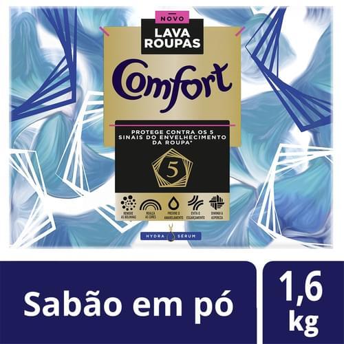 Imagem de Detergente em pó comfort 1,6kg hydra serum