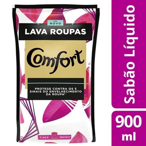 Imagem de Lava-roupas líquido comfort 900ml fiber protect refil
