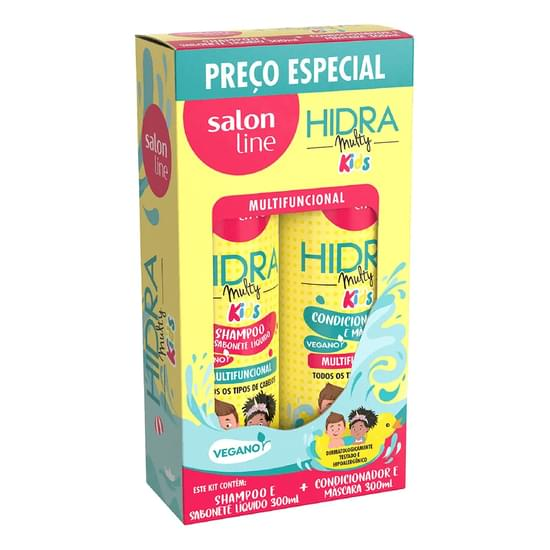 Imagem de Kit sh + co salon line 300ml hidra kids