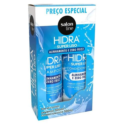 Imagem de Kit sh + co salon line 300ml hidra super liso