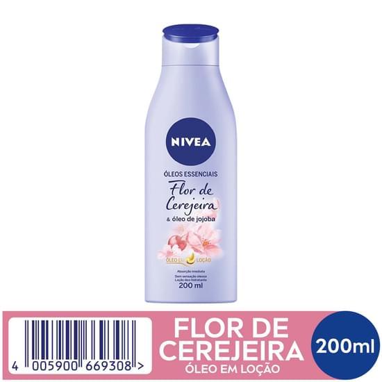Imagem de Loção corporal hidratante nivea 200ml flor de cerejeira