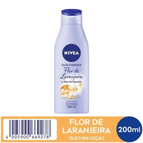 Imagem de Loção corporal hidratante nivea 200ml flor de laranjeira