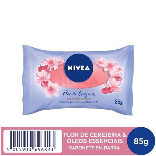 Imagem de Sabonete em barra uso diário nivea 85g flor de cerejeira