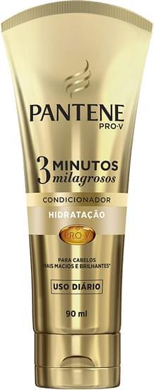 Imagem de Condicionador uso diário pantene 90ml hidratação 3min milagrosos