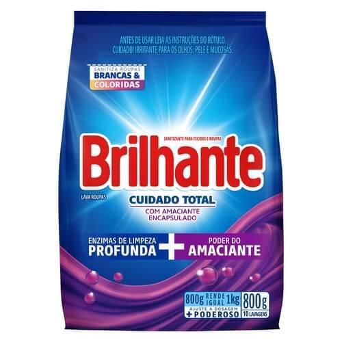 Imagem de Detergente em pó brilhante 800g cuidado total pc