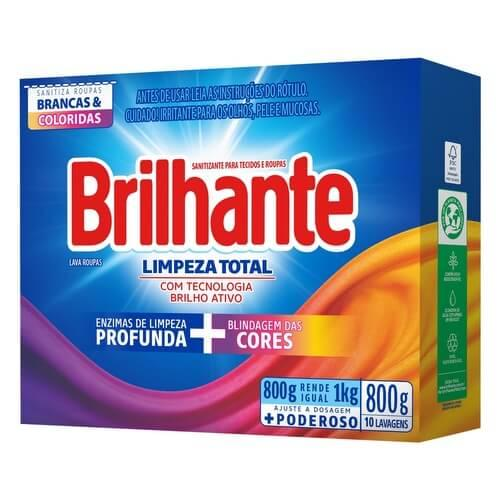Imagem de Detergente em pó brilhante 800g limpeza total