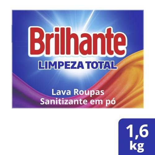 Imagem de Detergente em pó brilhante 1,6kg limpeza total
