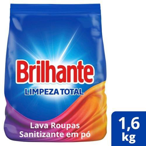 Imagem de Detergente em pó brilhante 1,6kg limpeza total pacote