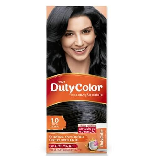 Imagem de Tintura permanente duty color 1.0 preto azulado