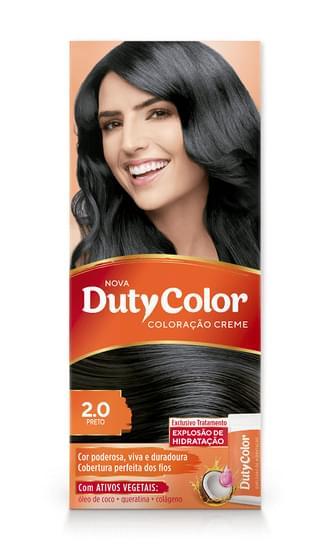 Imagem de Tintura permanente duty color 2.0 preto