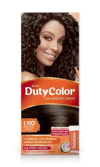 Imagem de Tintura permanente duty color 1.110 preto onix especial