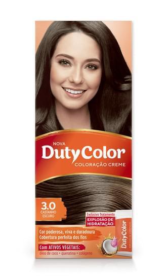Imagem de Tintura permanente duty color 3.0 castanho escuro