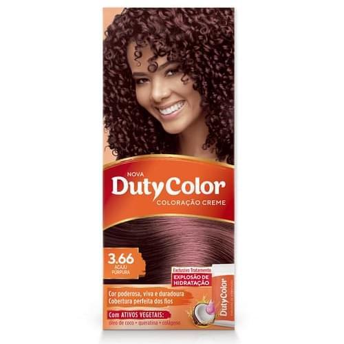 Imagem de Tintura permanente duty color 3.66 acajú púrpura