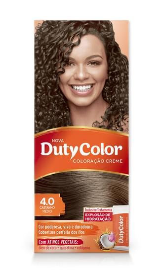 Imagem de Tintura permanente duty color 4.0 castanho médio