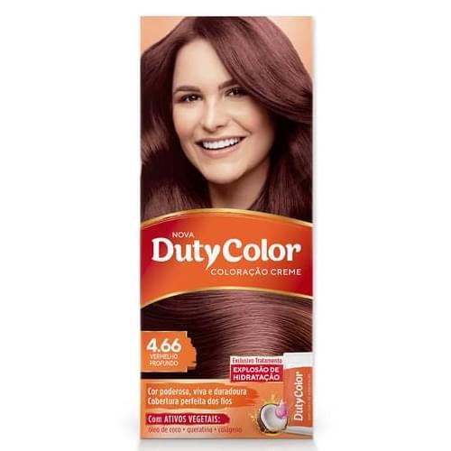 Imagem de Tintura permanente duty color 4.66 vermelho profundo