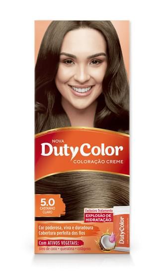 Imagem de Tintura permanente duty color 5.0 castanho claro