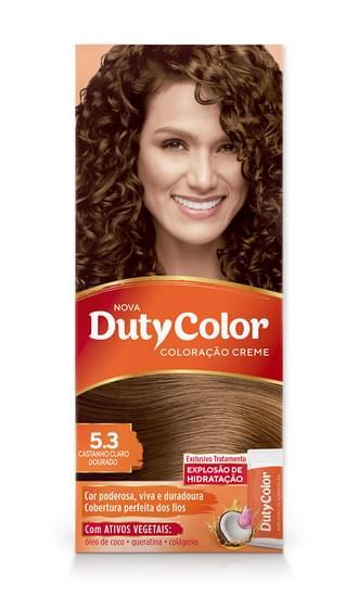 Imagem de Tintura permanente duty color 5.3 castanho claro dourado