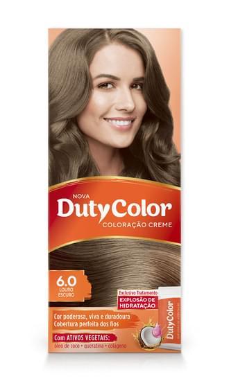 Imagem de Tintura permanente duty color 6.0 castanho escuro