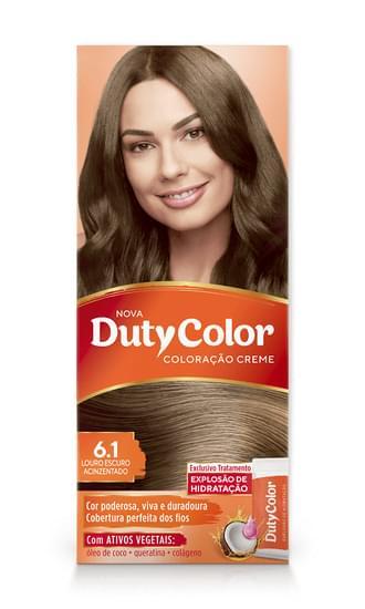 Imagem de Tintura permanente duty color 6.1 louro escuro acinzentado
