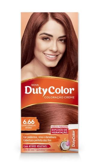Imagem de Tintura permanente duty color 6.66 louro vermelho intenso