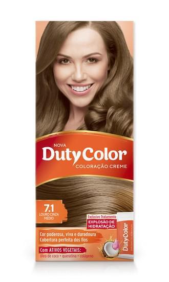 Imagem de Tintura permanente duty color 7.1 louro cinza médio