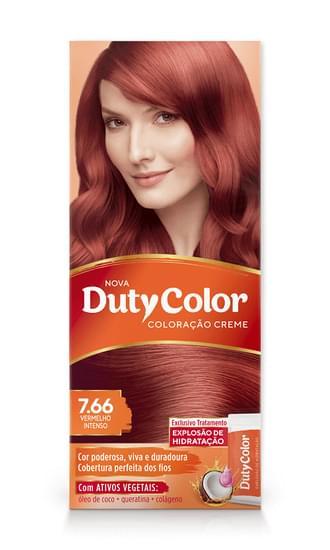 Imagem de Tintura permanente duty color 7.66 vermelho intenso