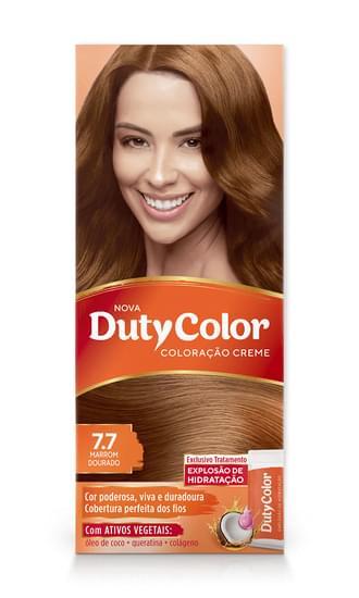 Imagem de Tintura permanente duty color 7.7 marrom dourado