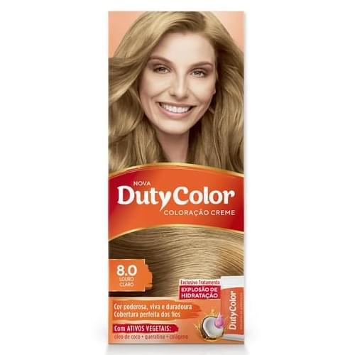 Imagem de Tintura permanente duty color 8.0 louro claro