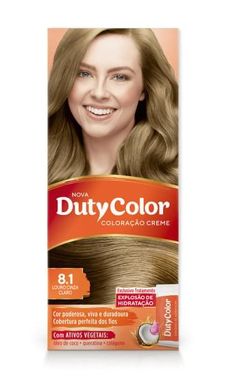 Imagem de Tintura permanente duty color 8.1 louro cinza claro