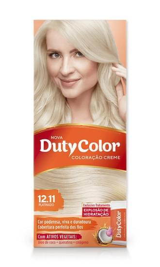 Imagem de Tintura permanente duty color 12.11 platinado