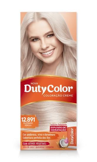 Imagem de Tintura permanente duty color 12.891 platinado perola