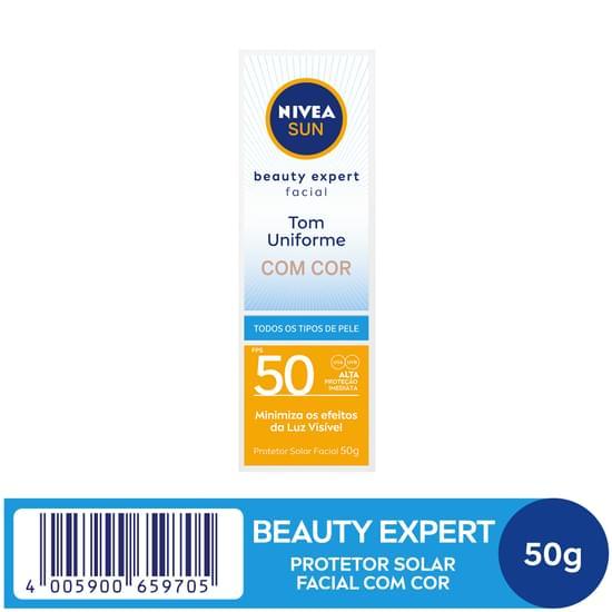 Imagem de Protetor solar facial nivea 50g fps 50 com cor