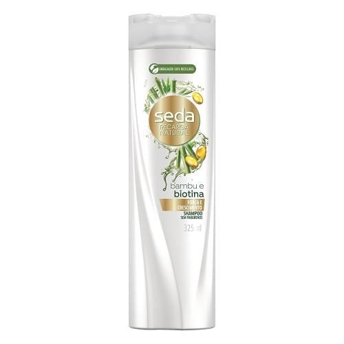 Imagem de Shampoo uso diário seda 325ml biotina+óleo de rícino