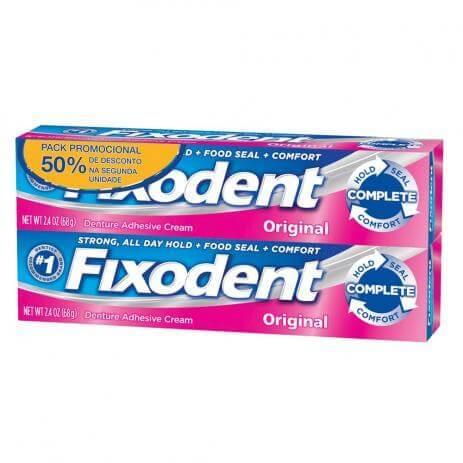 Imagem de Fixador de dentadura fixodent 68g c/2 50% de desconto na 2°unidade