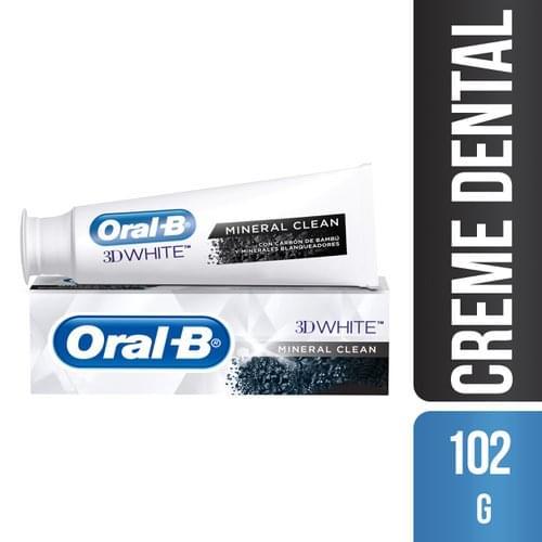 Imagem de Creme dental branqueador oral-b 102g mineral clean