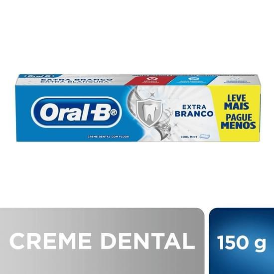 Imagem de Creme dental branqueador oral-b 150g extra branco l+p-