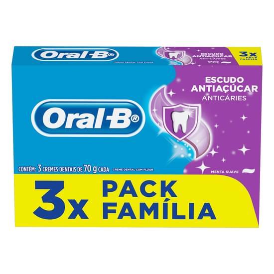 Imagem de Creme dental tradicional oral-b 70g escudo anti açucar l3p2