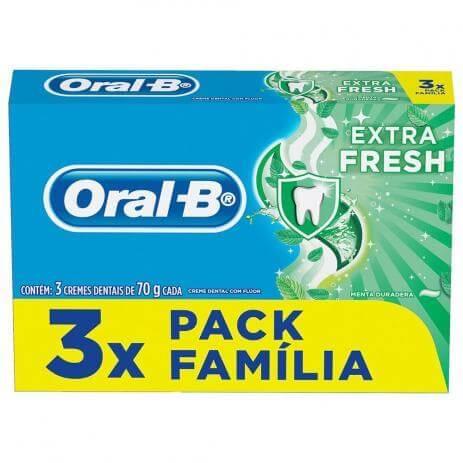 Imagem de Creme dental tradicional oral-b 70g extra fresh l3p2