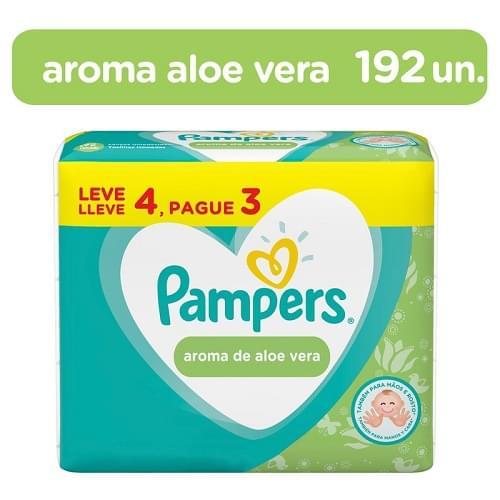 Imagem de Lenço umedecido sache pampers c/4 aroma de aloe vera l+p-