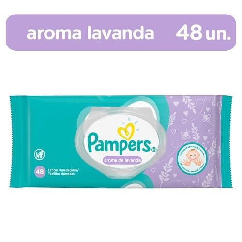 Imagem de Lenço umedecido sache pampers c/48 aroma de lavanda