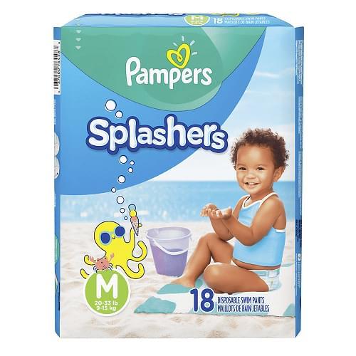 Imagem de Fralda infantil pampers splashers c/18 m