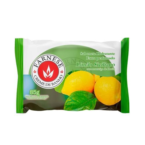 Imagem de Sabonete em barra uso diário farnese 90g limão siciliano