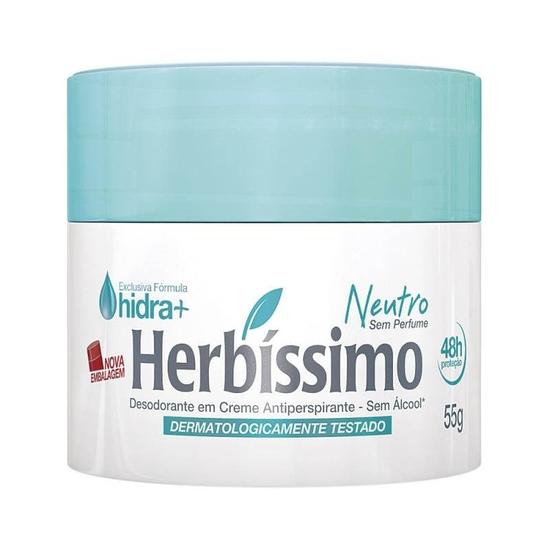 Imagem de Desodorante em creme herbíssimo 55g neutro sem perfume
