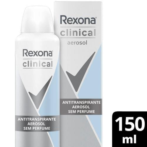 Imagem de Desodorante aerosol rexona 150ml clinical feminino sem perfume