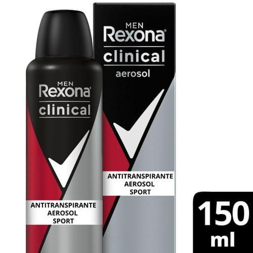 Imagem de Desodorante aerosol rexona 150ml clinical masculino sport