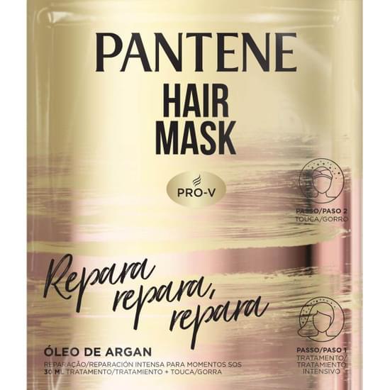 Imagem de Máscara tratamento pantene 30ml repara óleo de argan c/touca