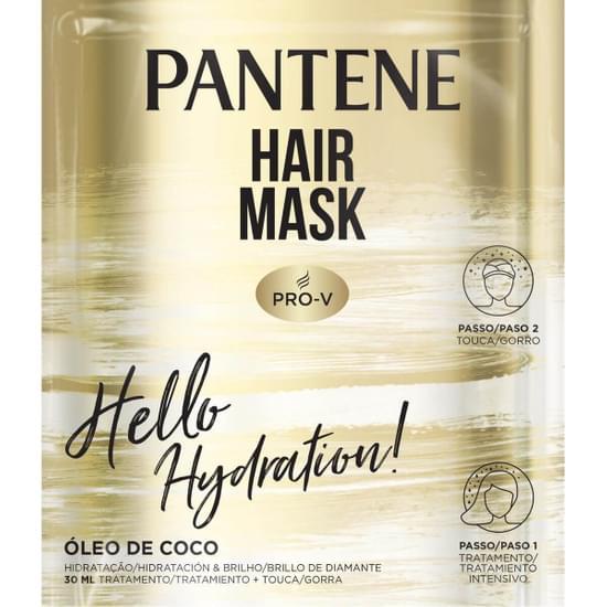 Imagem de Máscara tratamento pantene 30ml hidratação óleo argan c/touca