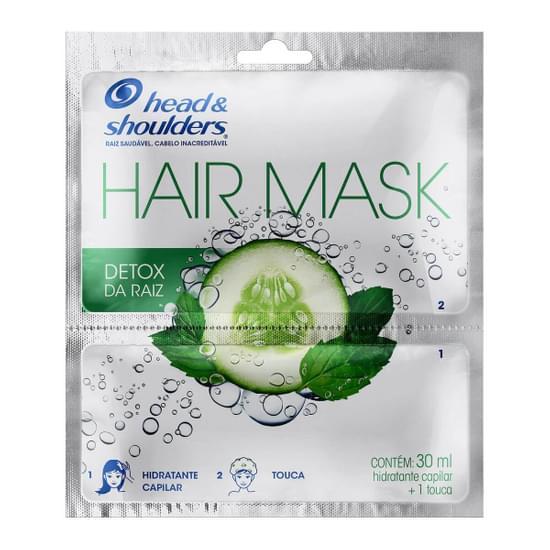 Imagem de Máscara tratamento head  shoulders 30ml detox da raiz c/touca