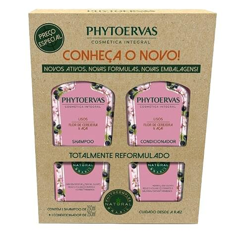 Imagem de Kit sh + co phytoervas 250ml lisos
