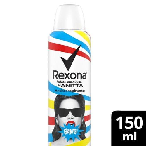Imagem de Desodorante aerosol rexona 150ml anitta bang